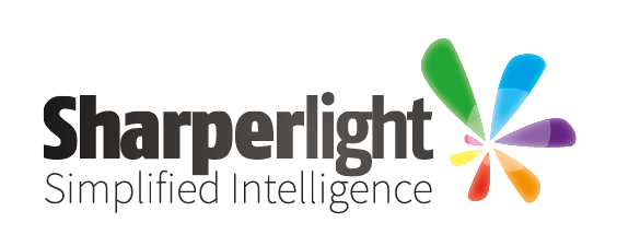 Sharperlight logo, a powerful business intelligence tool and one of BDI's valued business partners