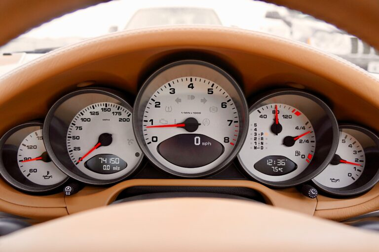 Dashboard of a car, symbolizing dashboard reporting tools